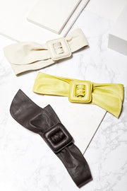 Wide Pleather Sash Belt