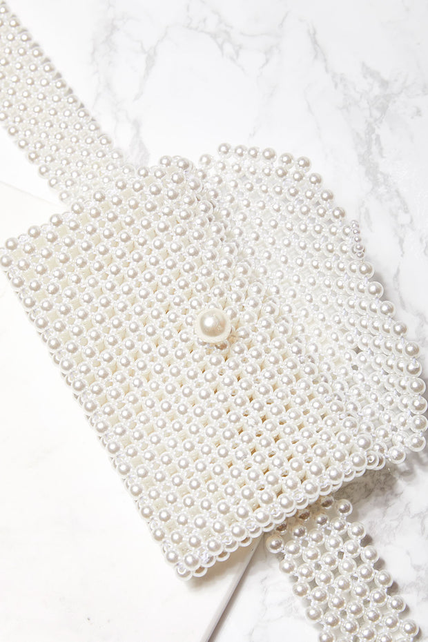 Beaded Pearl Belt Bag