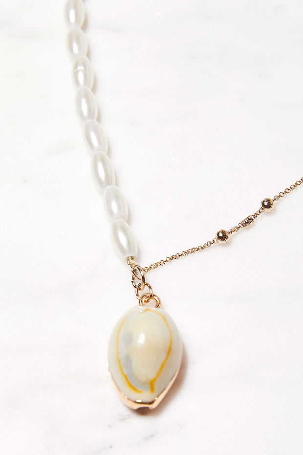 Cowrie Shell Layered Necklace