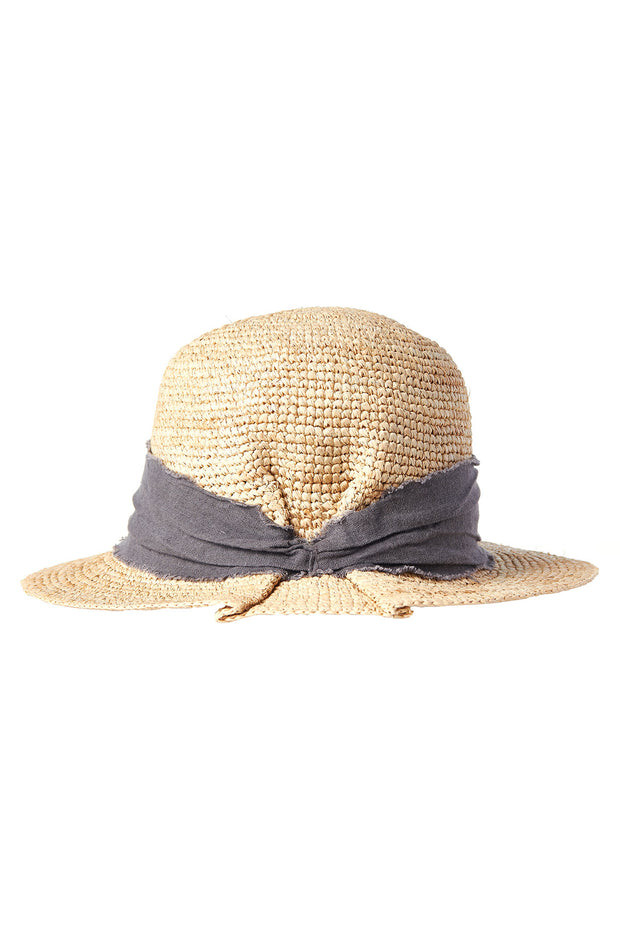 Packable Mesa Straw Hat-Charcoal