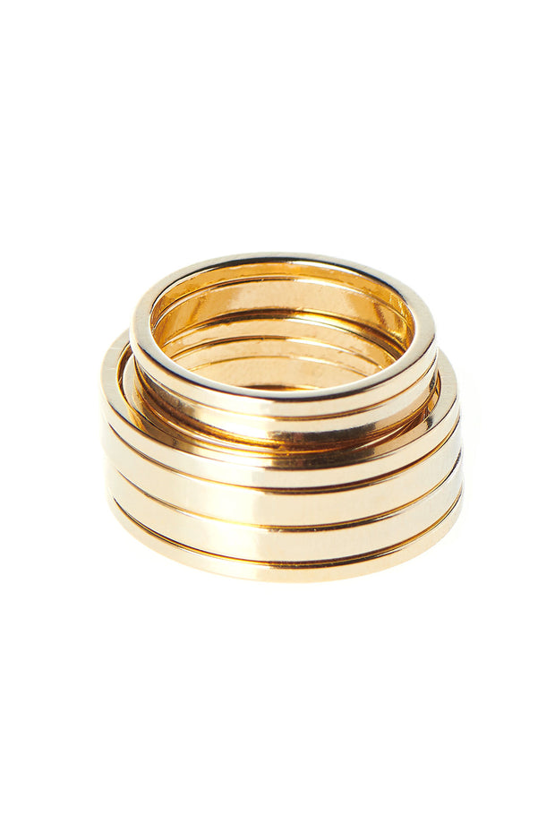 Layering 10 Set Ring-Gold