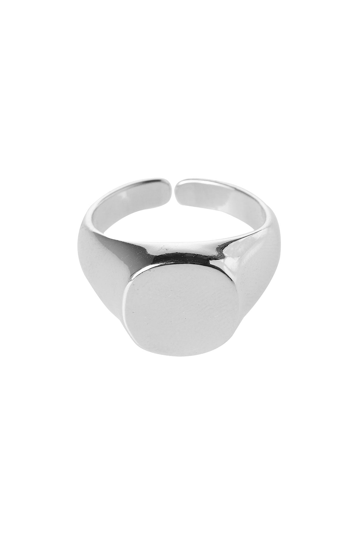 Round Flat Top Ring-Silver