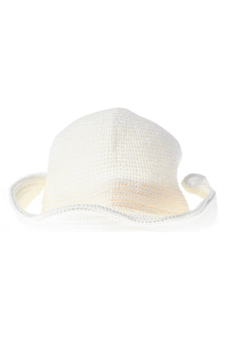 Knit Bucket Hat-White