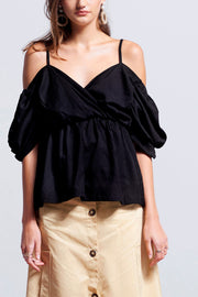 storets.com Sofia Cold Shoulder Blouse