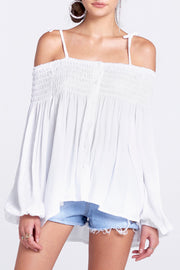 Coa Off-the-Shoulder Top