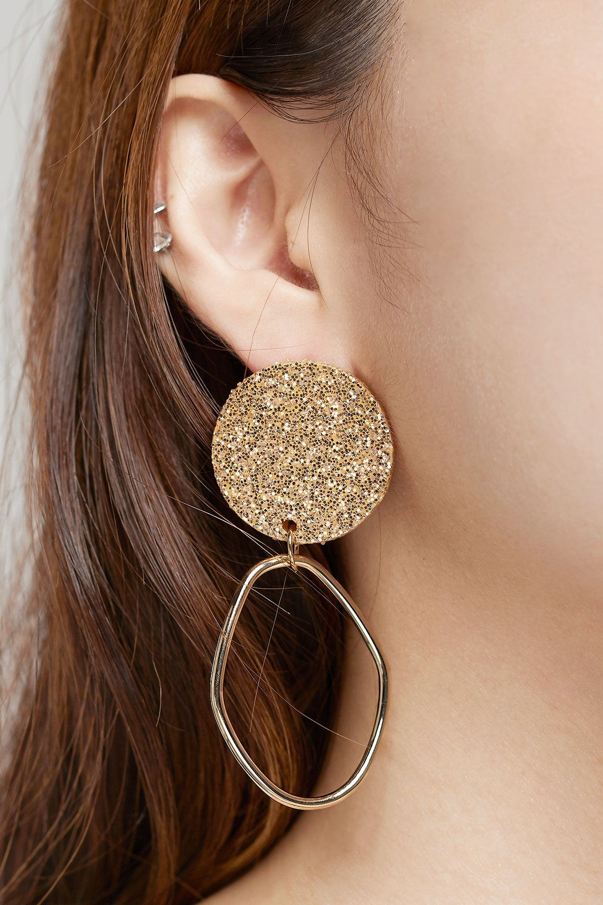 Sparkly Spangle Earrings-Gold