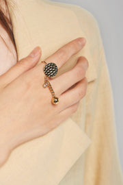 Chain Drop Ring-Gold