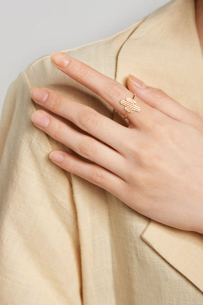 Cactus Ring-Gold