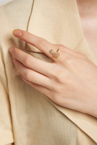Pineapple Ring-Gold