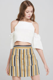 Zaniyah Modern Stripe Skirt-Yellow