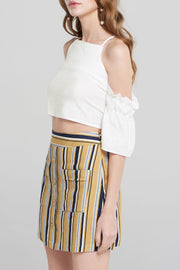 storets.com Zaniyah Modern Stripe Skirt-Yellow