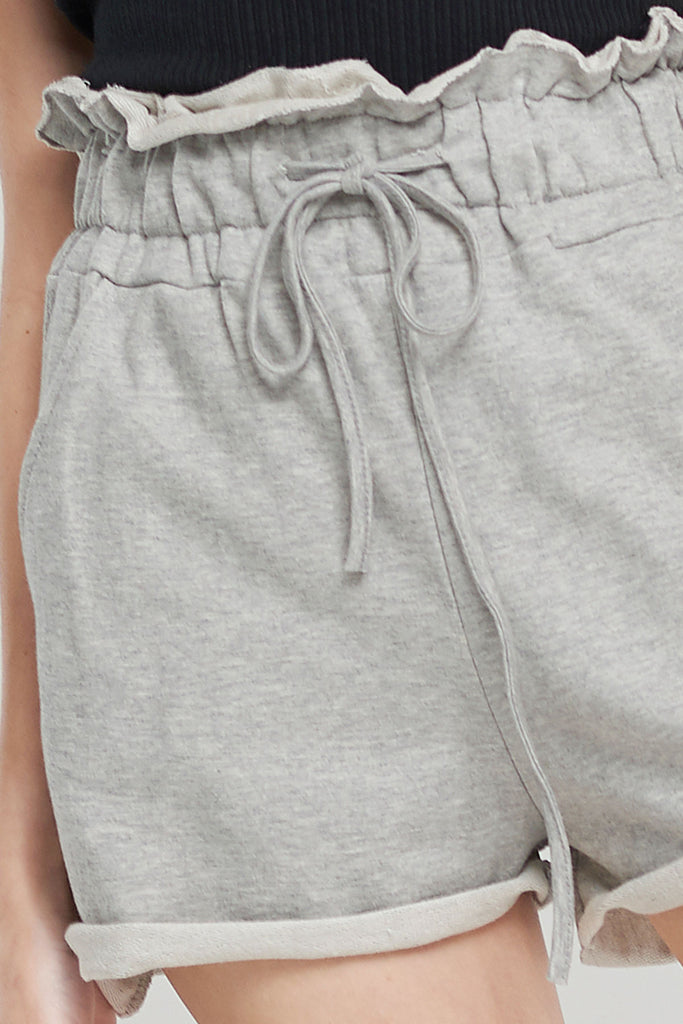 Sophia Sweat Shorts-Gray
