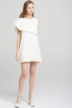 Lilly Urban Fray Dress-White
