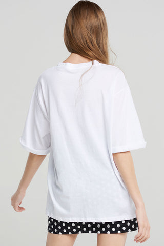 Cecelia Modern Drawing T-shirt-White