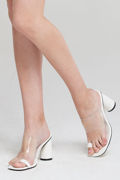 Clear Heel Toe Ring Heels by STORETS