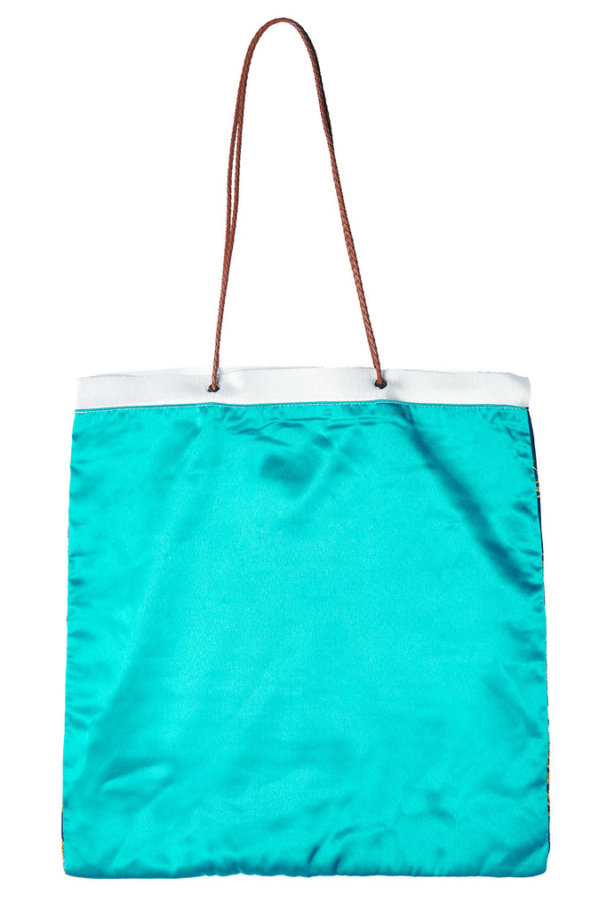 Satin Two-way Square Bag-Green
