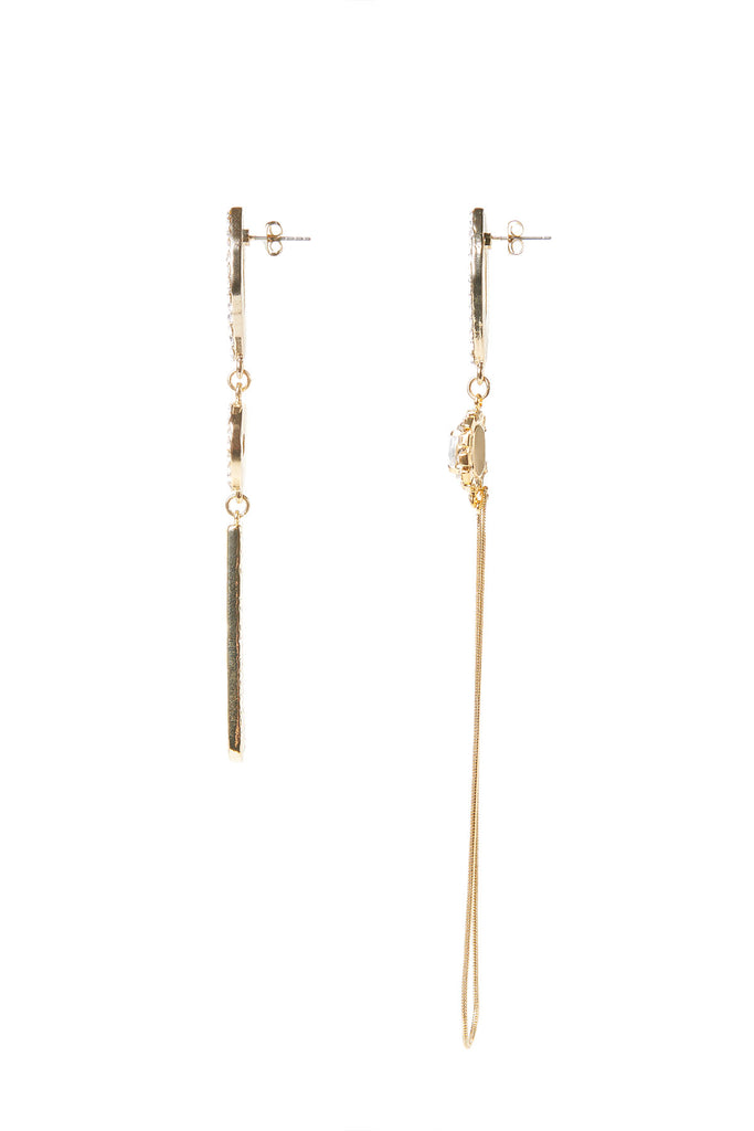 Unbalanced Charm Earrings-Gold