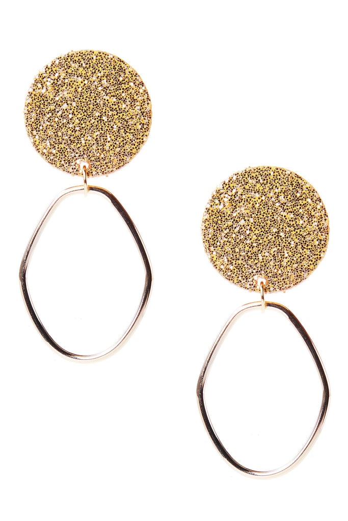 Sparkly Glitter Earrings-Gold