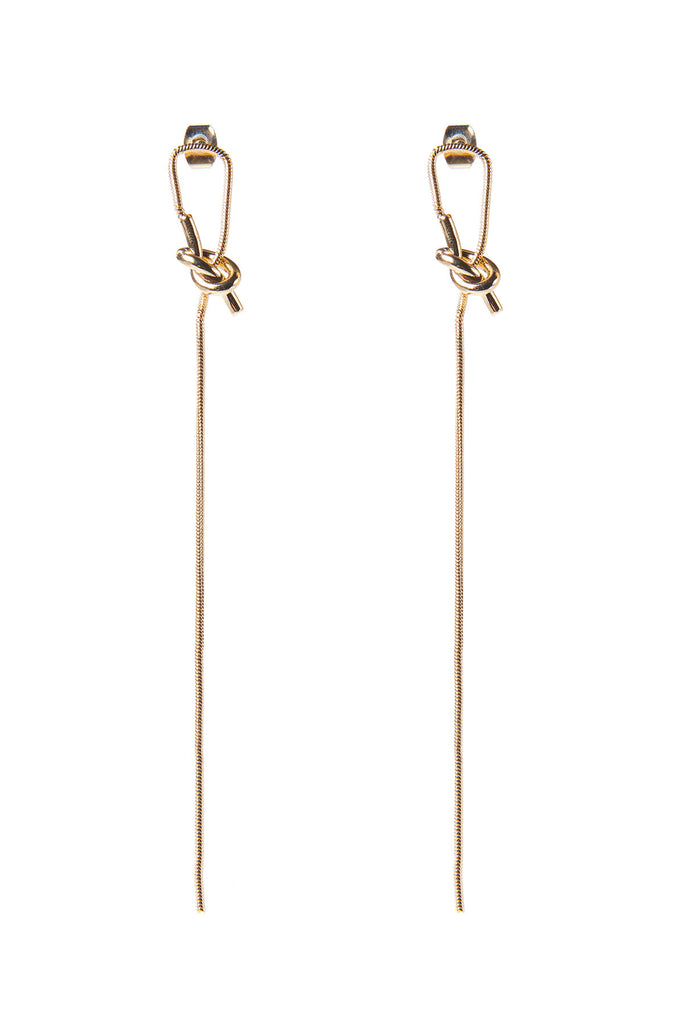 Tangled Drop Earrings-Gold