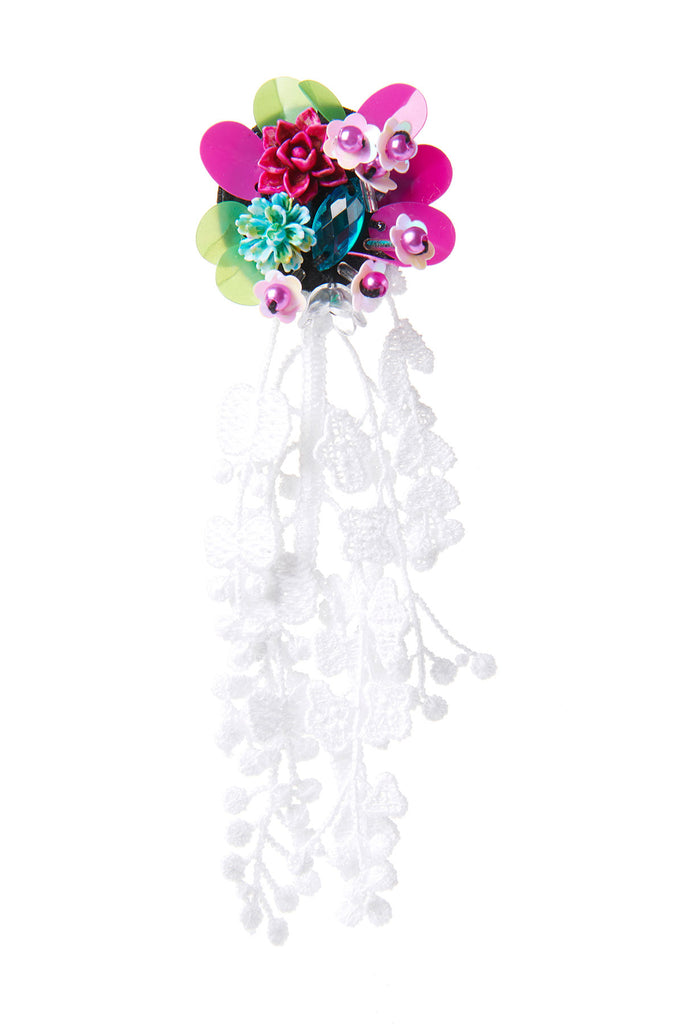 Flower Bouquet Earrings-Pink