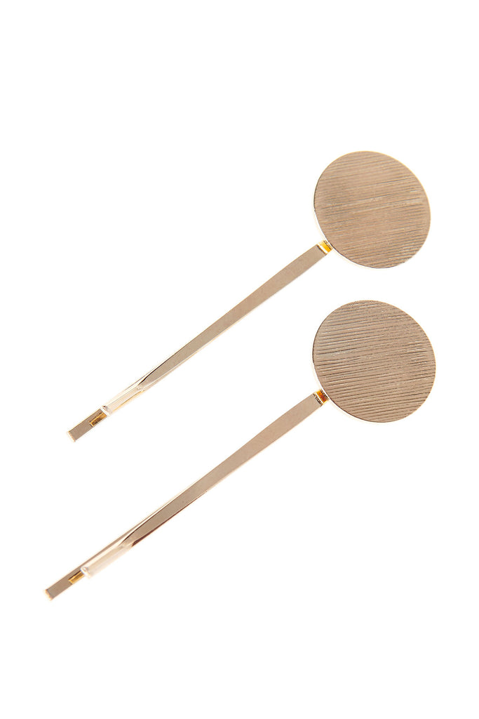 Textured Hair Pin 2 Set-Gold