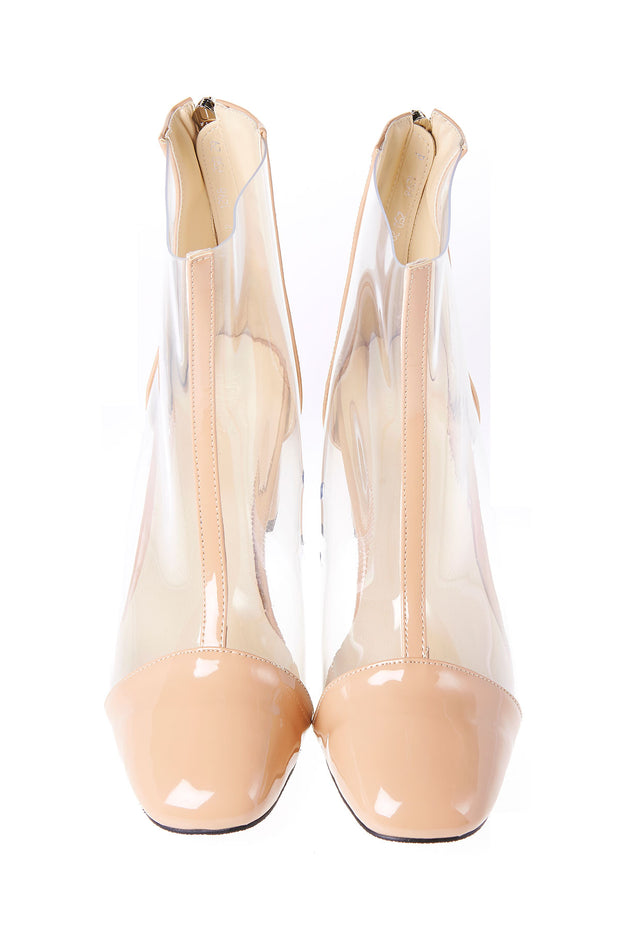 storets.com Center Line Clear Heels-Beige