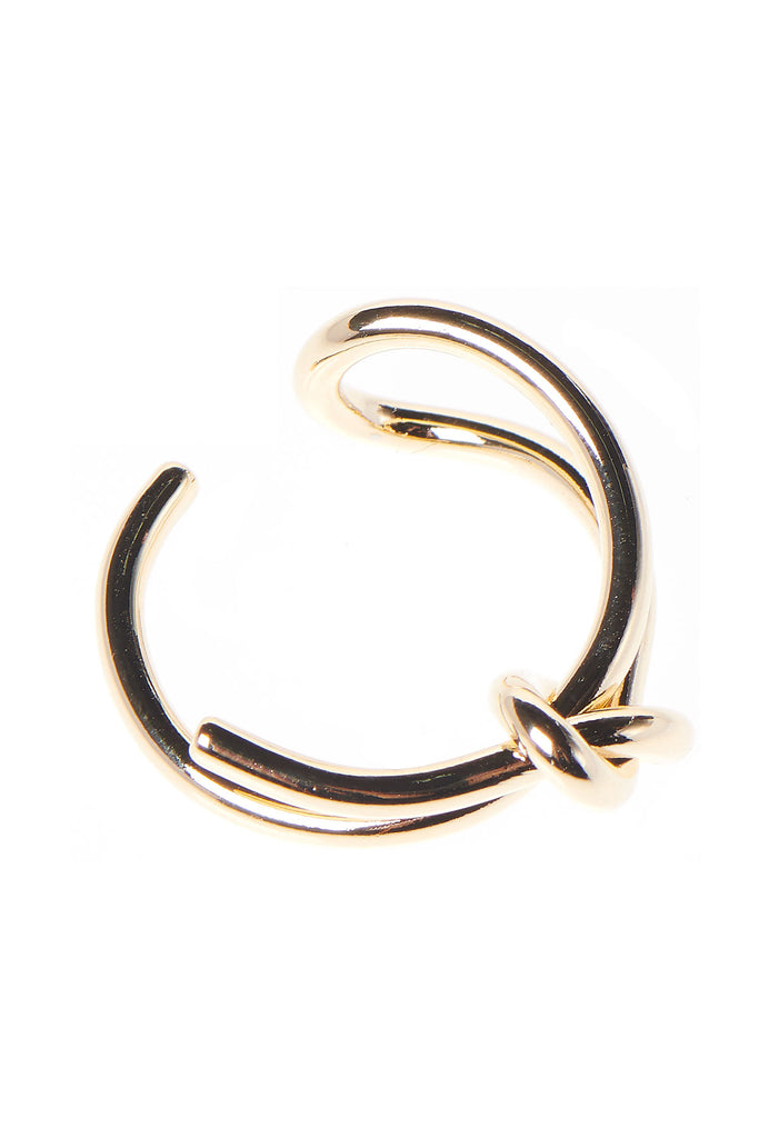 Knotted Tie Ring-Gold