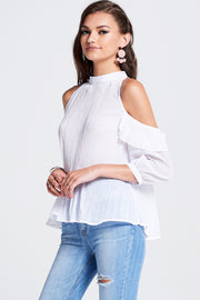 Helen Shine Cold Shoulder Top