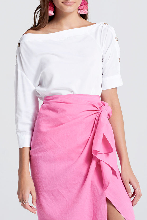 storets.com Mery Vivid Linen 2 Way Skirt Dress