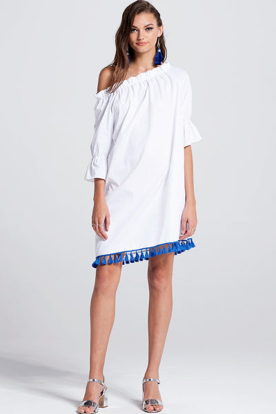 Lilina Contrast Tassel Dress