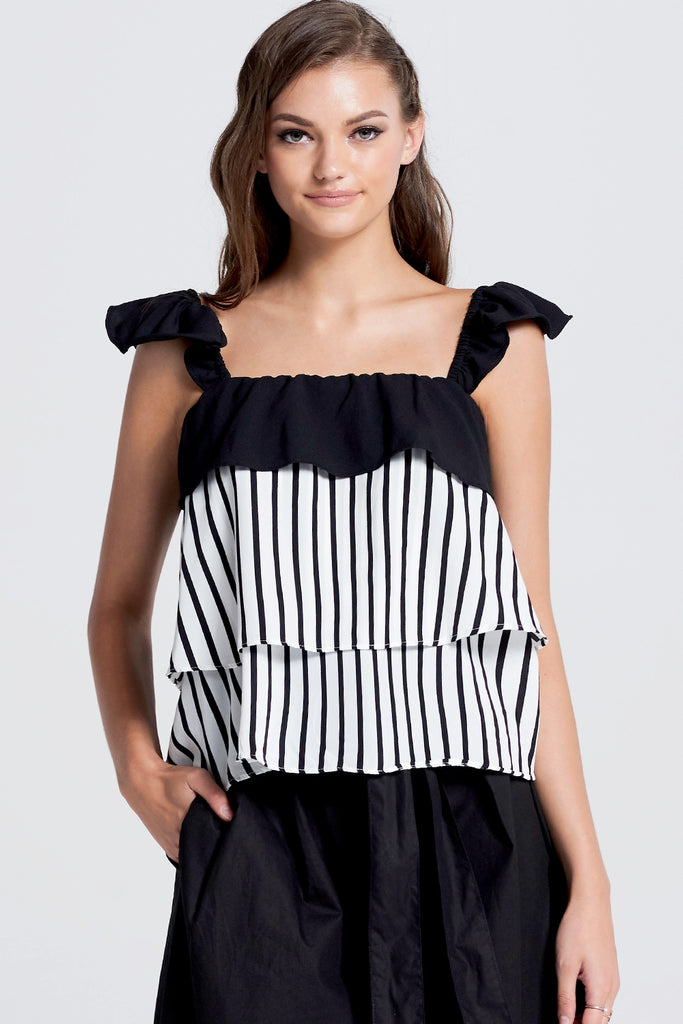 Hailee Tiered Ruffle Top