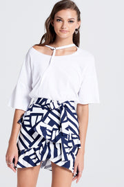 Jina Ruffle Mini Skirt