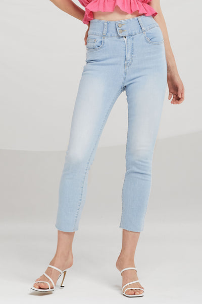 Kiara High Rise Cropped Jeans