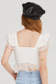 Ruth Eyelet-Lace Tank Top