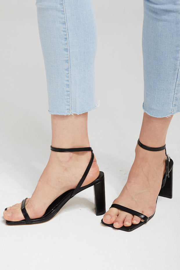 Squared Toe Heeled Sandals