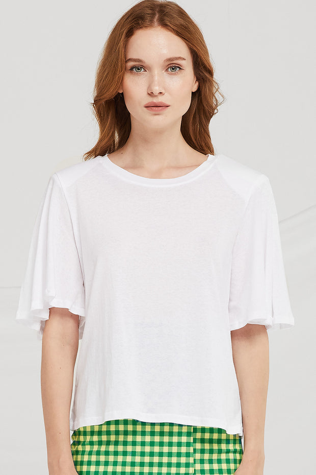 Leia Shoulder Padded T-shirt