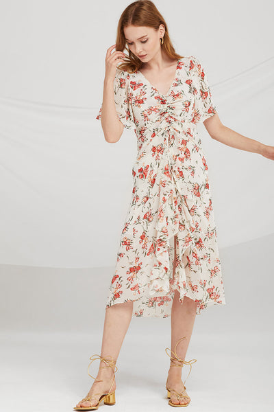 Alana Floral Ruched Dress