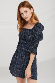 Bria Floral Smocked Puff Sleeve Dress