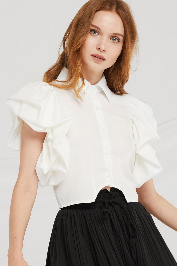 Thea Angel Puff Sleeve Blouse