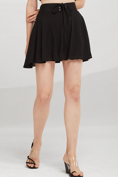 Brinley Grommet Lace Up Skort