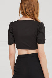 Malia Hook-and-Eye Crop Top