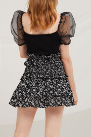 Dylan Floral Tiered Skirt
