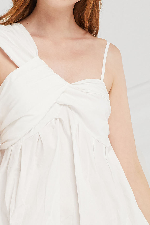 Noelle Draped Bustier Dress
