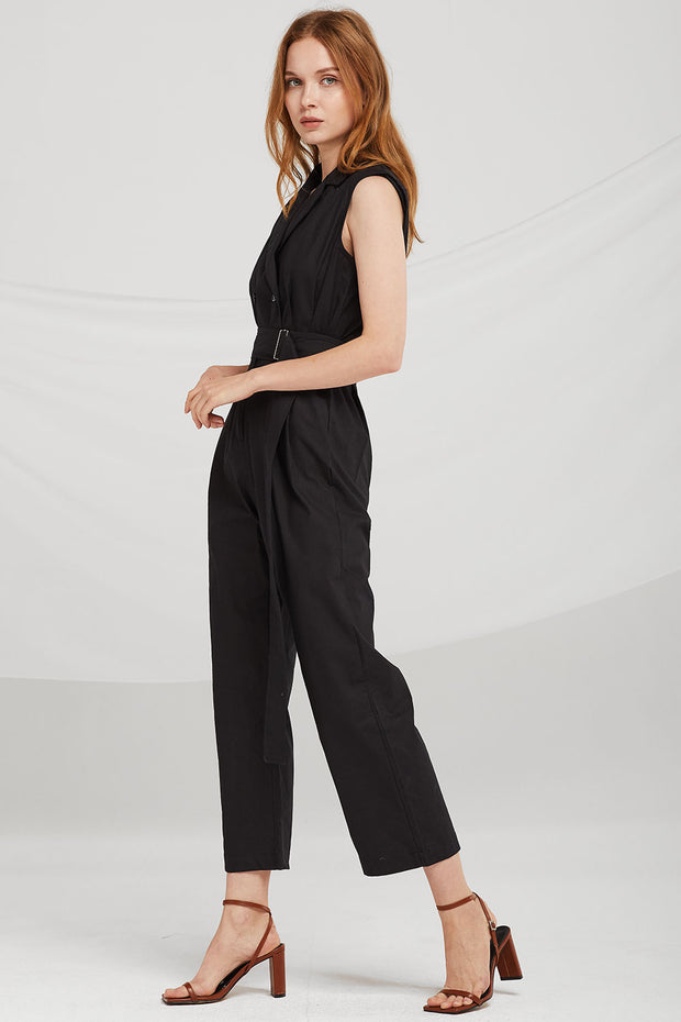 Mariah Notched Collar Jumpsuit