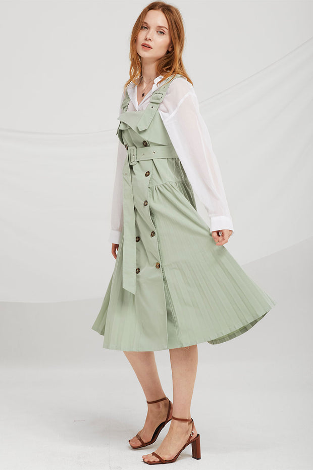 Jayla Trench Pinafore Dress
