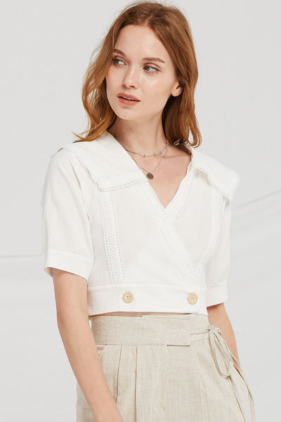 Blake Sailor Collar Crop Blouse