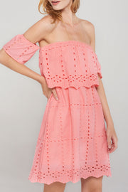 storets.com Dorothy Punched Eyelet Off Dress-2 Colors