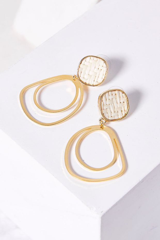 Gold Rattan Earrings