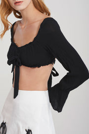 storets.com Annalise Long Sleeve Bra Top-2 Colors