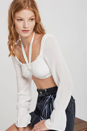 Annalise Long Sleeve Bra Top-2 Colors